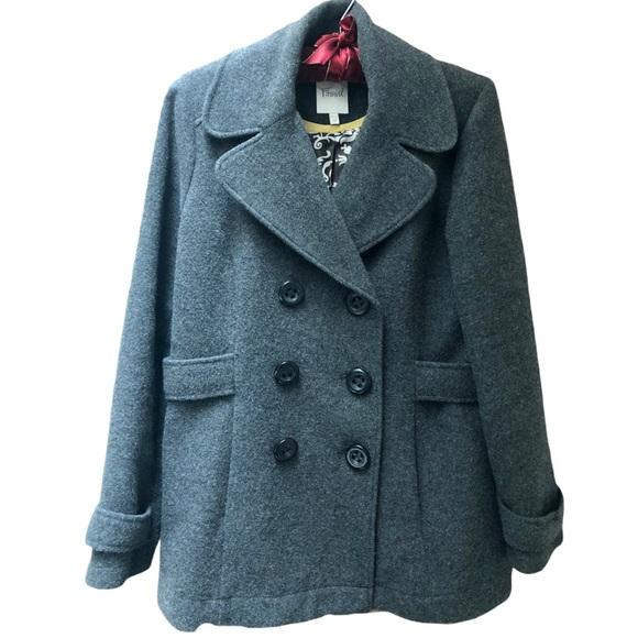 Lucky Brand Women's Gray Wool Lined Coat